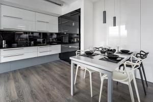 Kitchen with white table