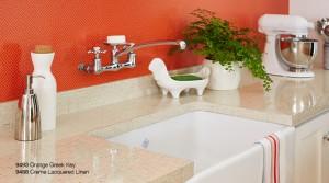 9493 Orange Greek Key9488 Creme Lacquered Linen 7