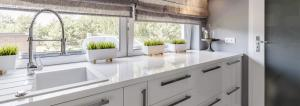 Stylish kitchen in white colors