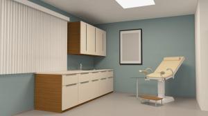 Doctor's examination room.