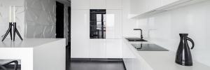 Monochromatic white luxury kitchen