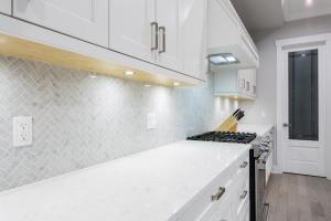 Kitchen interior, white clean design